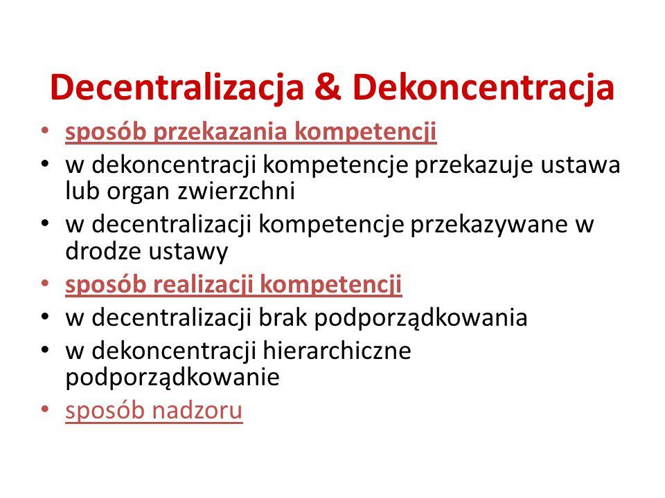 Decentralizacja & Dekoncentracja