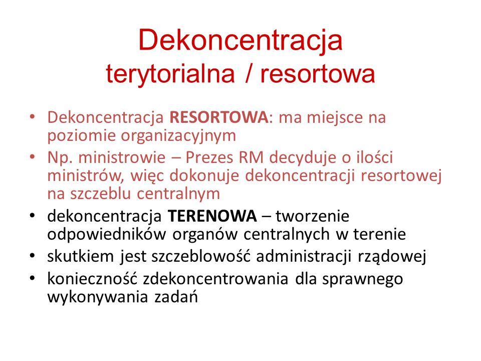 Dekoncentracja terytorialna / resortowa
