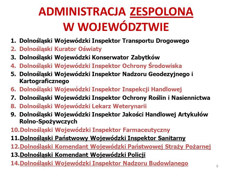 ADMINISTRACJA ZESPOLONA w województwie
