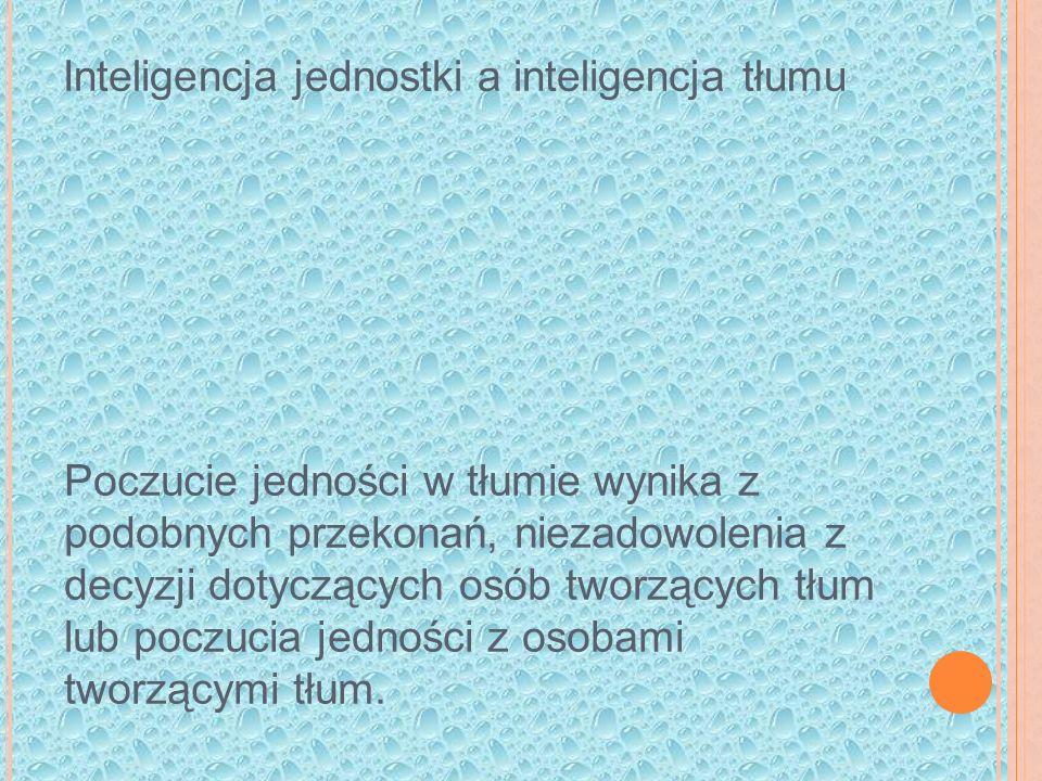 Inteligencja jednostki a inteligencja tłumu