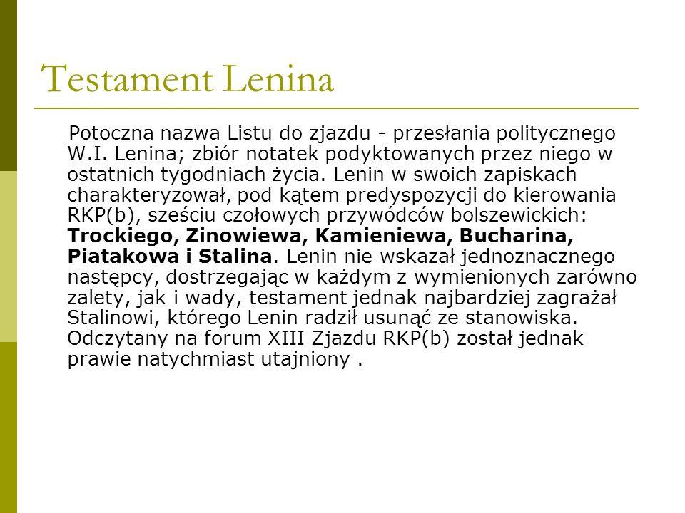 Testament Lenina