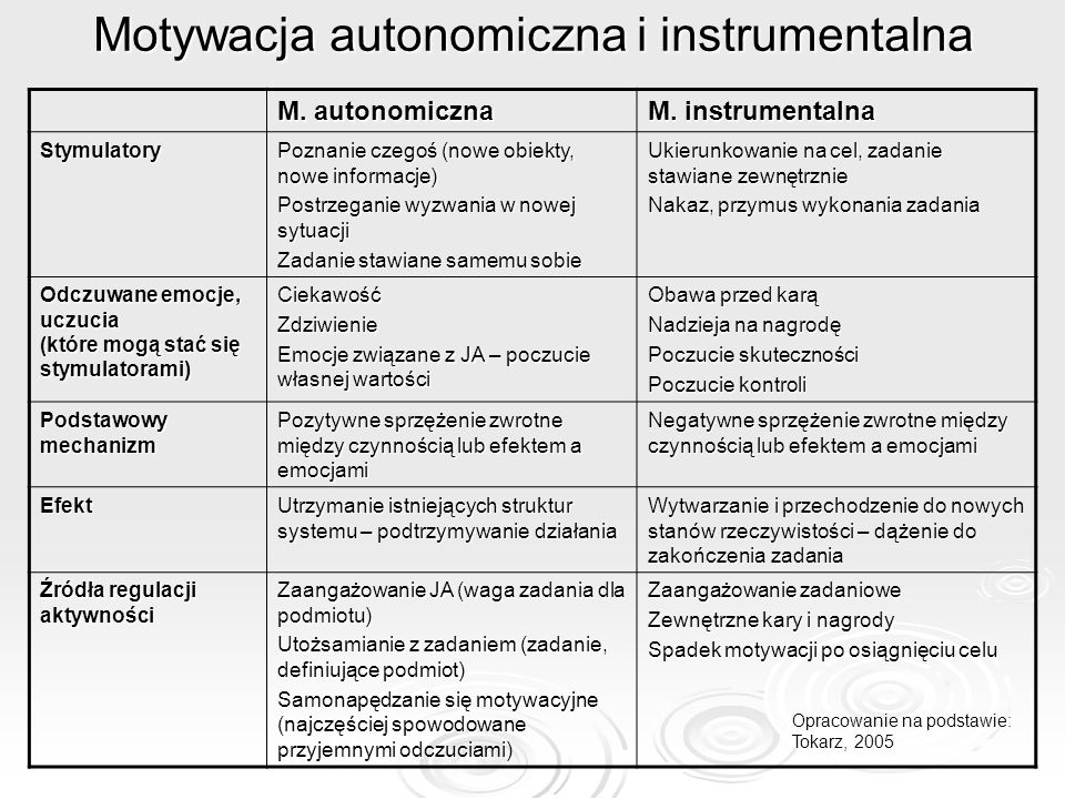 Motywacja autonomiczna i instrumentalna