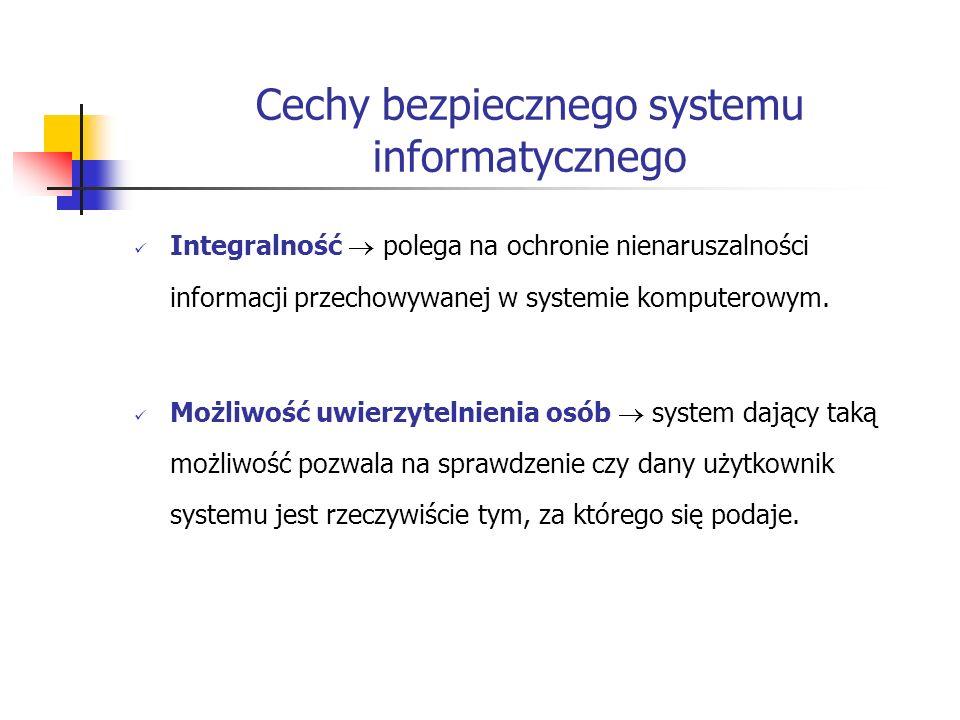 Cechy bezpiecznego systemu informatycznego