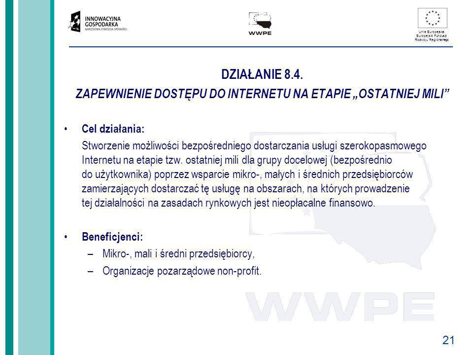 """ZAPEWNIENIE DOSTĘPU DO INTERNETU NA ETAPIE """"OSTATNIEJ MILI"""