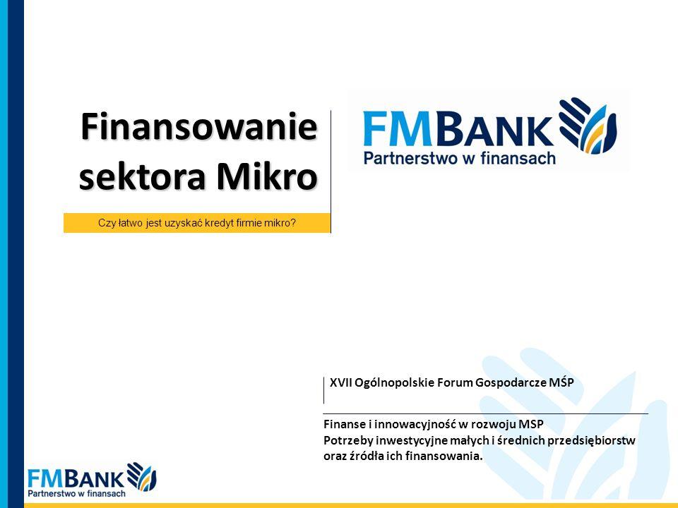 Finansowanie sektora Mikro