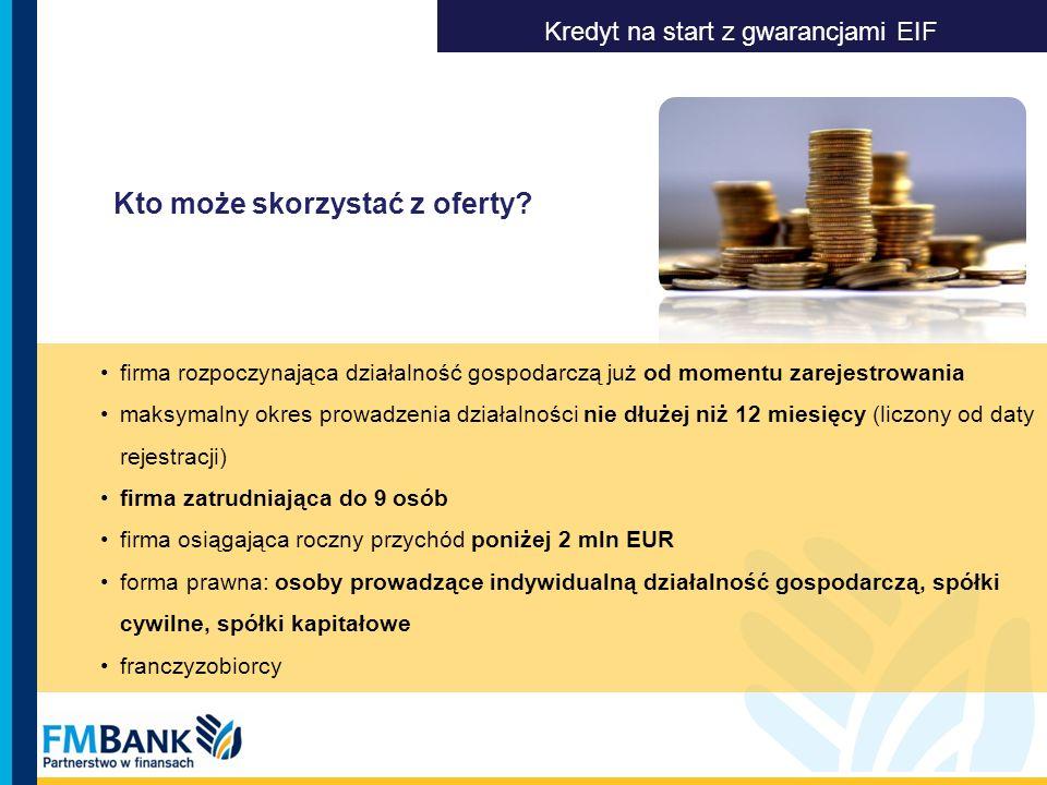 Kredyt na start z gwarancjami EIF