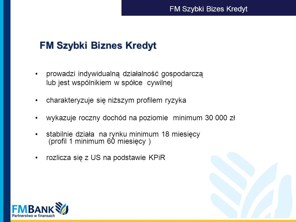 FM Szybki Biznes Kredyt