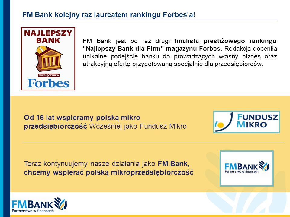 FM Bank kolejny raz laureatem rankingu Forbes'a!