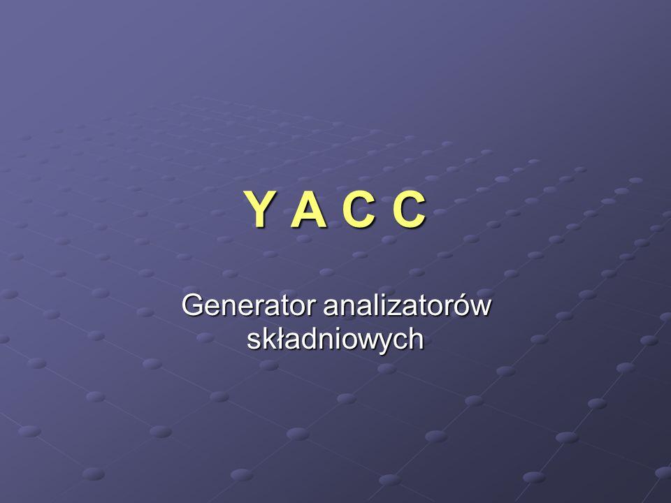 Generator analizatorów składniowych