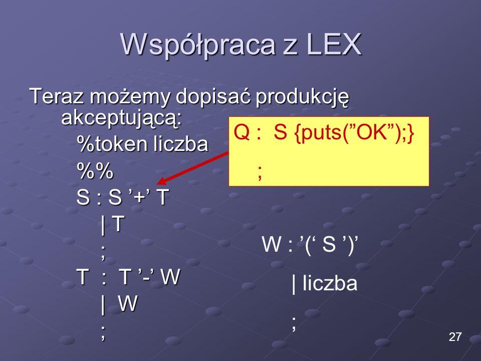 Współpraca z LEX Teraz możemy dopisać produkcję akceptującą: