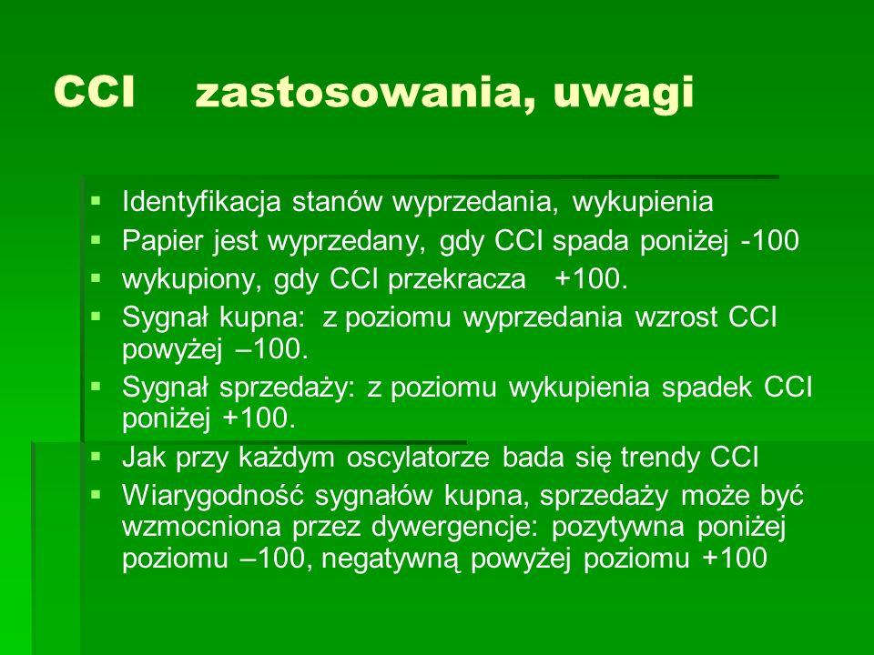 CCI zastosowania, uwagi
