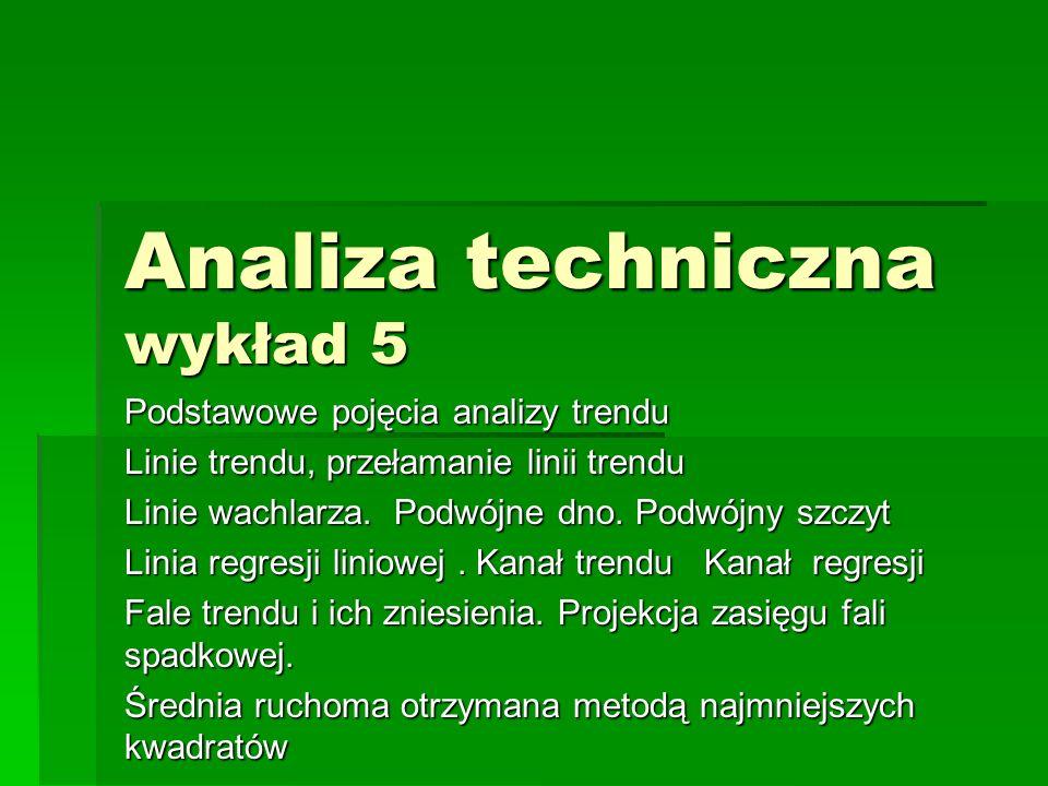 Analiza techniczna wykład 5