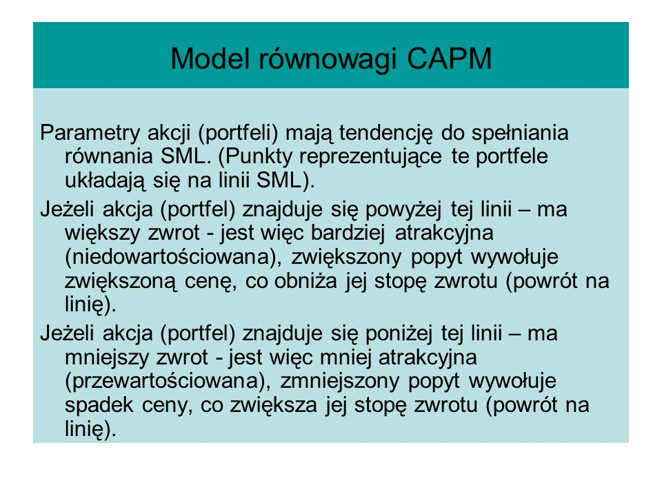 Model równowagi CAPM