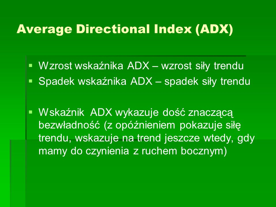Average Directional Index (ADX)