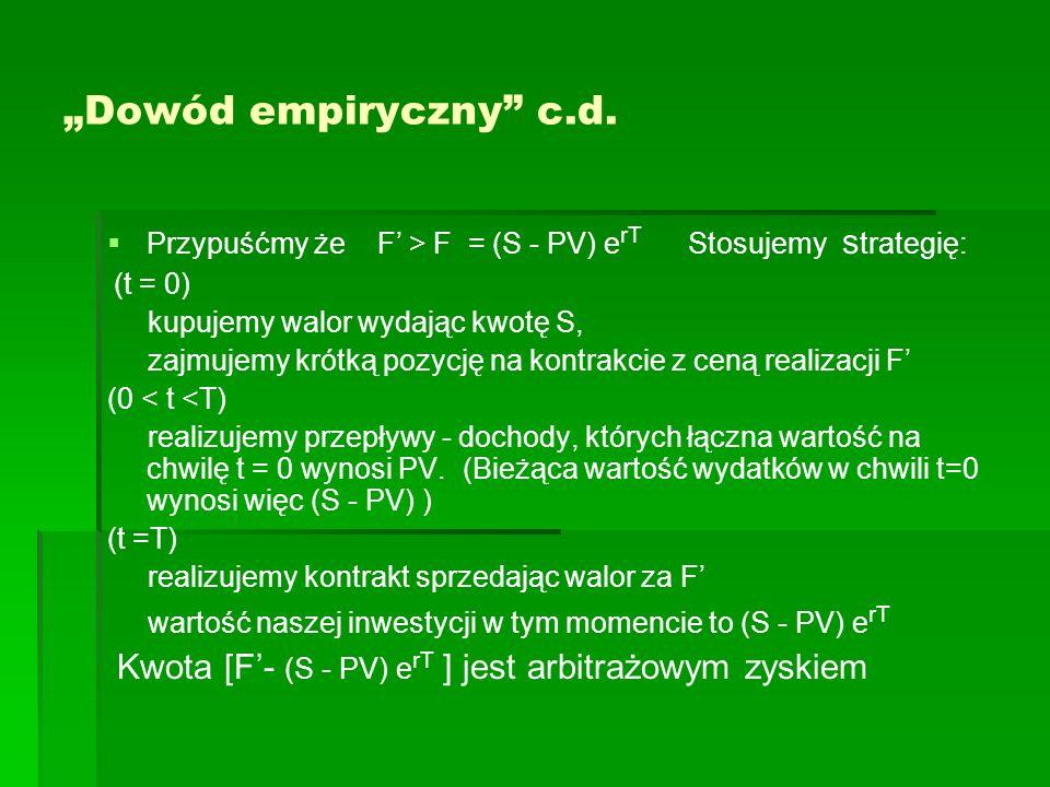 """""""Dowód empiryczny c.d. (t = 0)"""