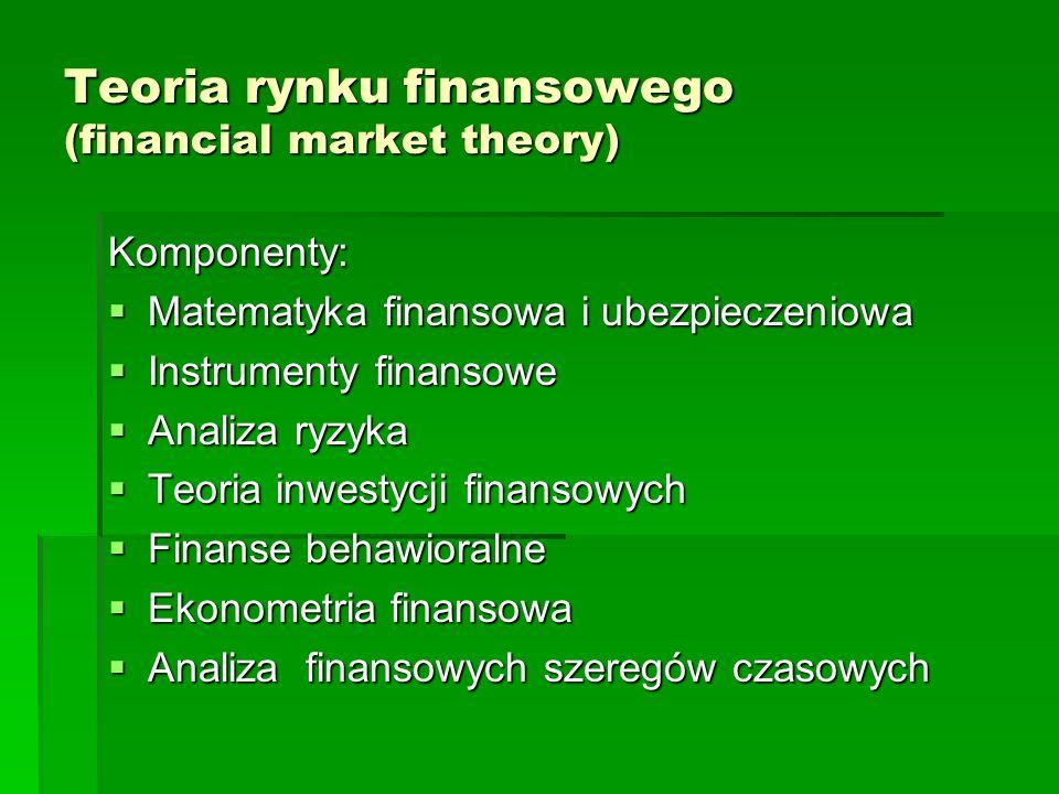 Teoria rynku finansowego (financial market theory)