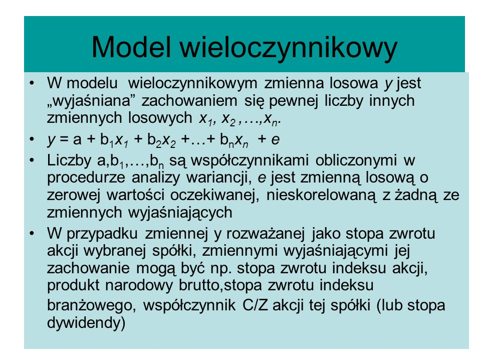 Model wieloczynnikowy
