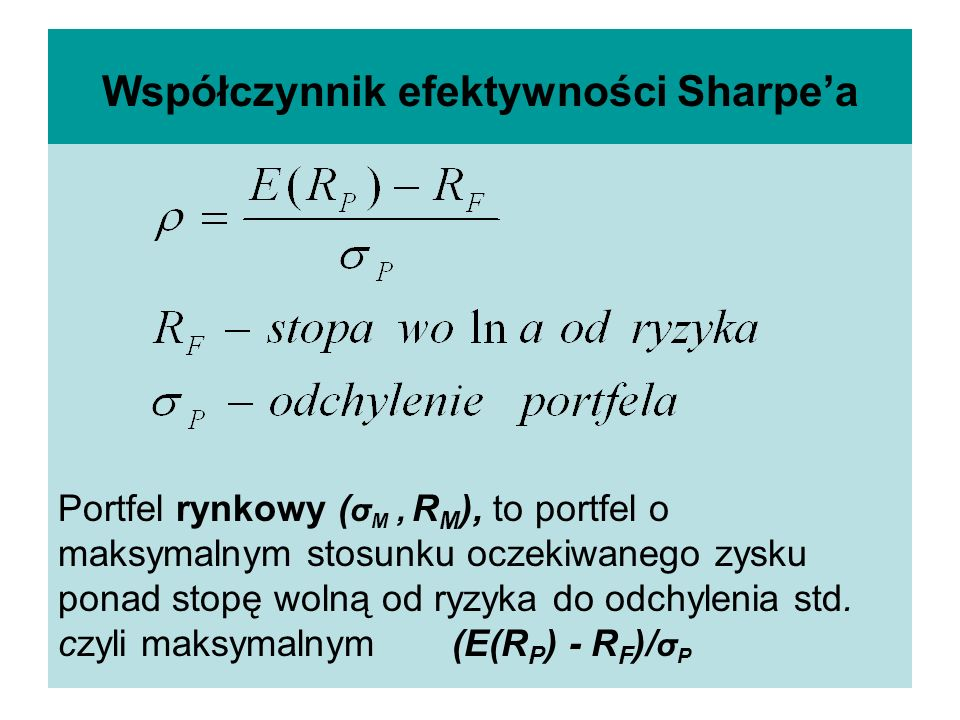 Współczynnik efektywności Sharpe'a