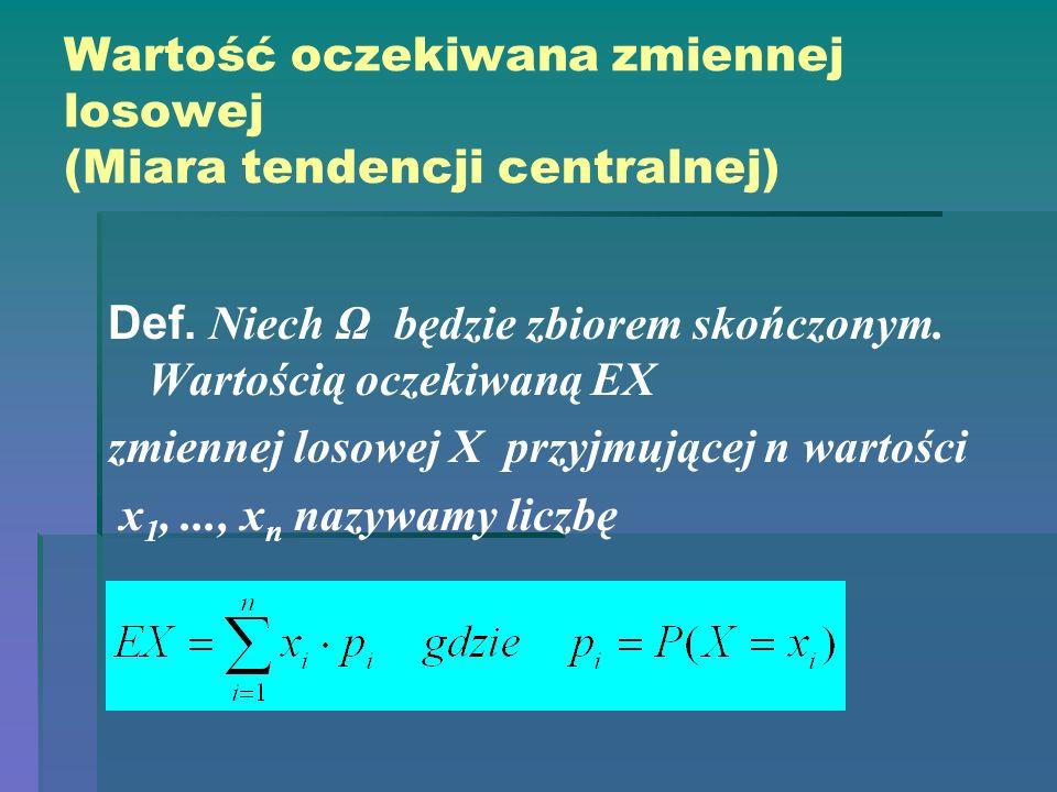 Wartość oczekiwana zmiennej losowej (Miara tendencji centralnej)
