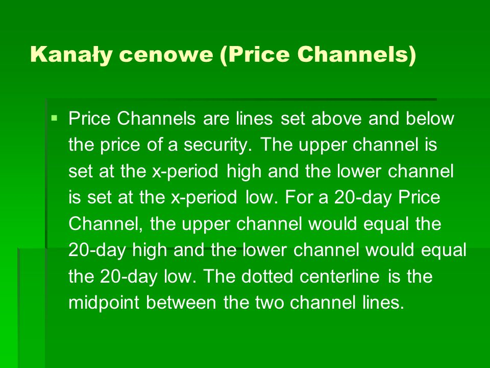 Kanały cenowe (Price Channels)