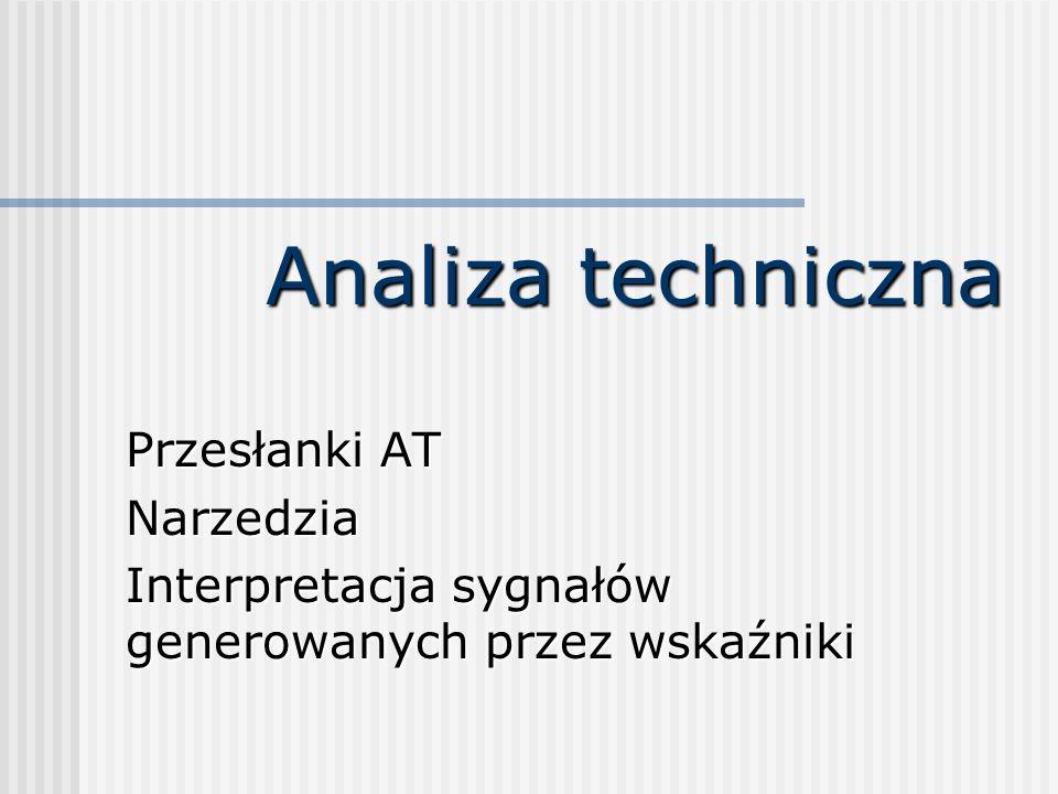 Analiza techniczna Przesłanki AT Narzedzia