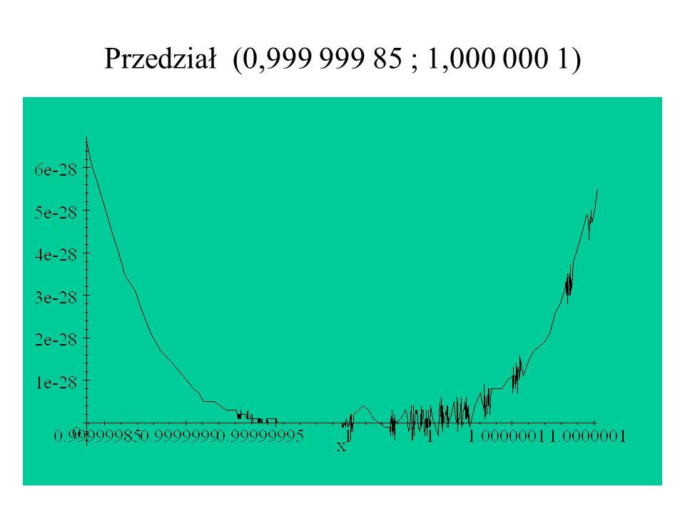 Przedział (0,999 999 85 ; 1,000 000 1)