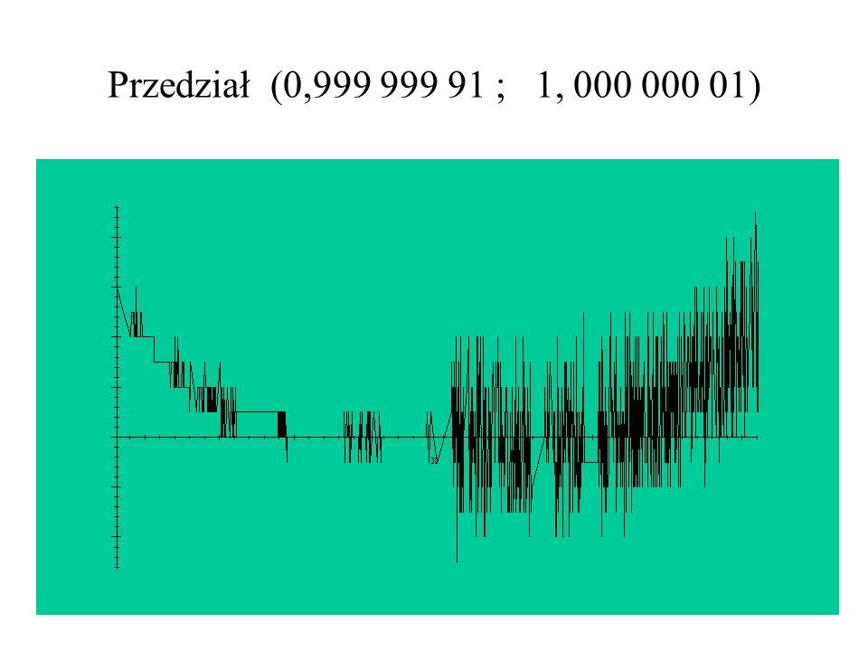 Przedział (0,999 999 91 ; 1, 000 000 01)