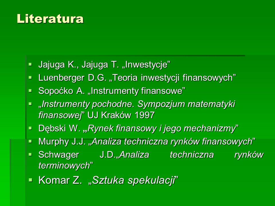 "Literatura Komar Z. ""Sztuka spekulacji"