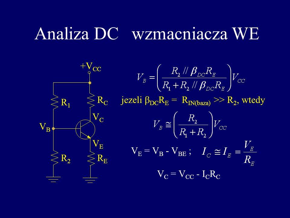 Analiza DC wzmacniacza WE