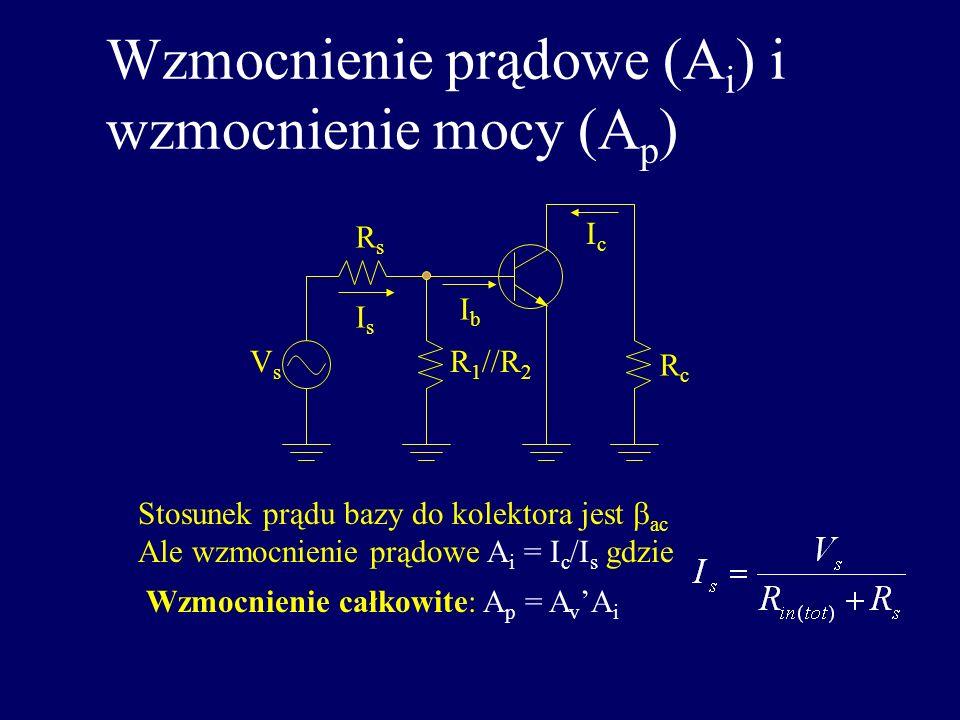 Wzmocnienie prądowe (Ai) i wzmocnienie mocy (Ap)