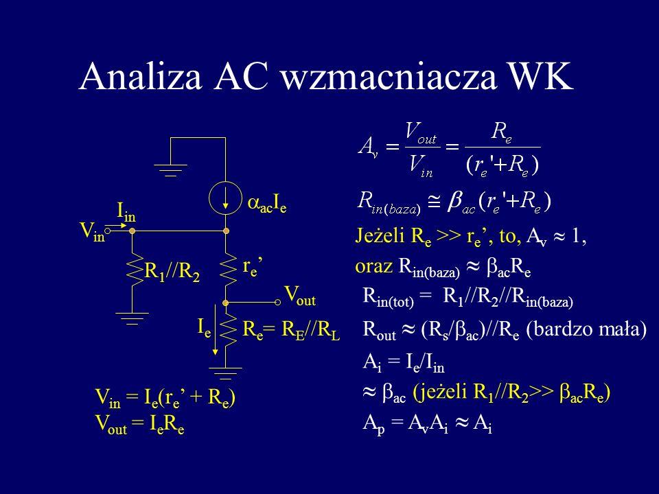 Analiza AC wzmacniacza WK
