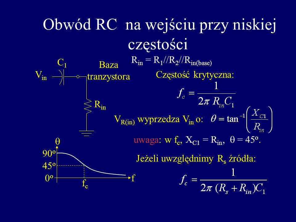 Obwód RC na wejściu przy niskiej częstości