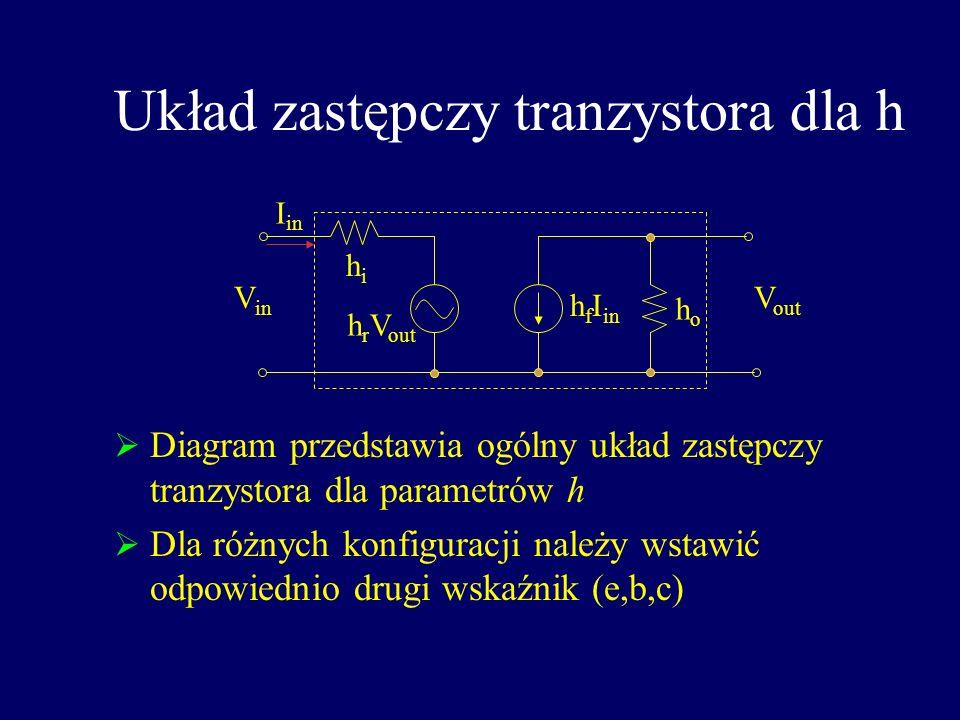 Układ zastępczy tranzystora dla h