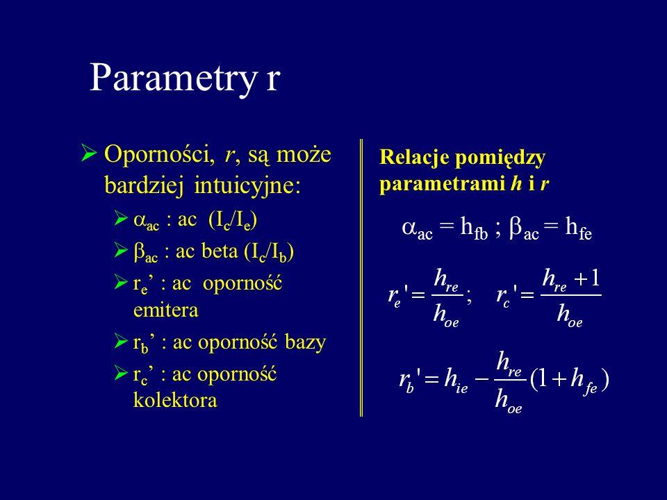 Parametry r Oporności, r, są może bardziej intuicyjne: