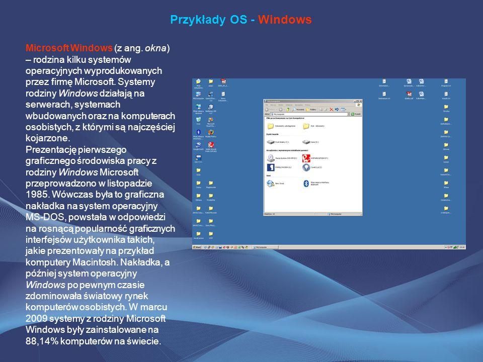 Przykłady OS - Windows