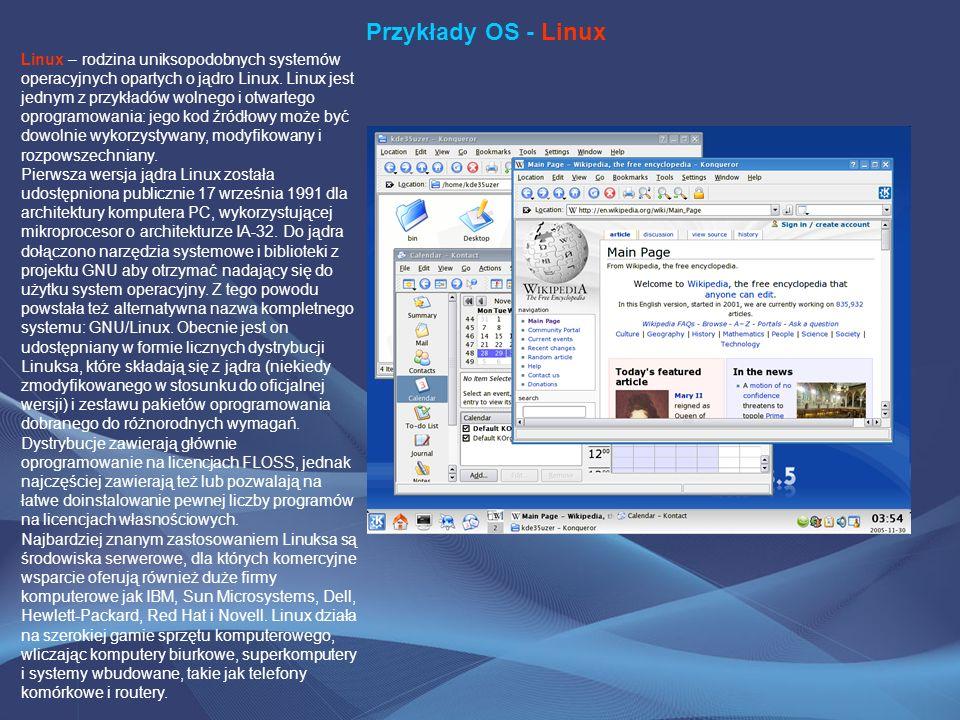 Przykłady OS - Linux