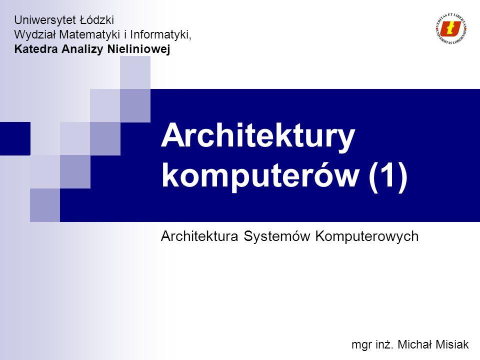 Architektury komputerów (1)
