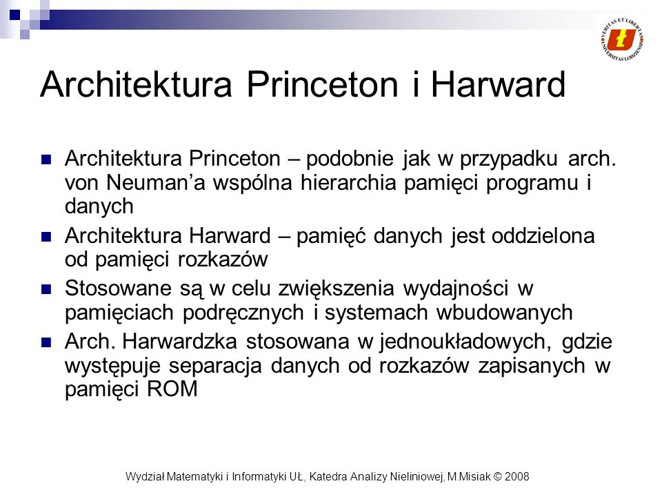 Architektura Princeton i Harward