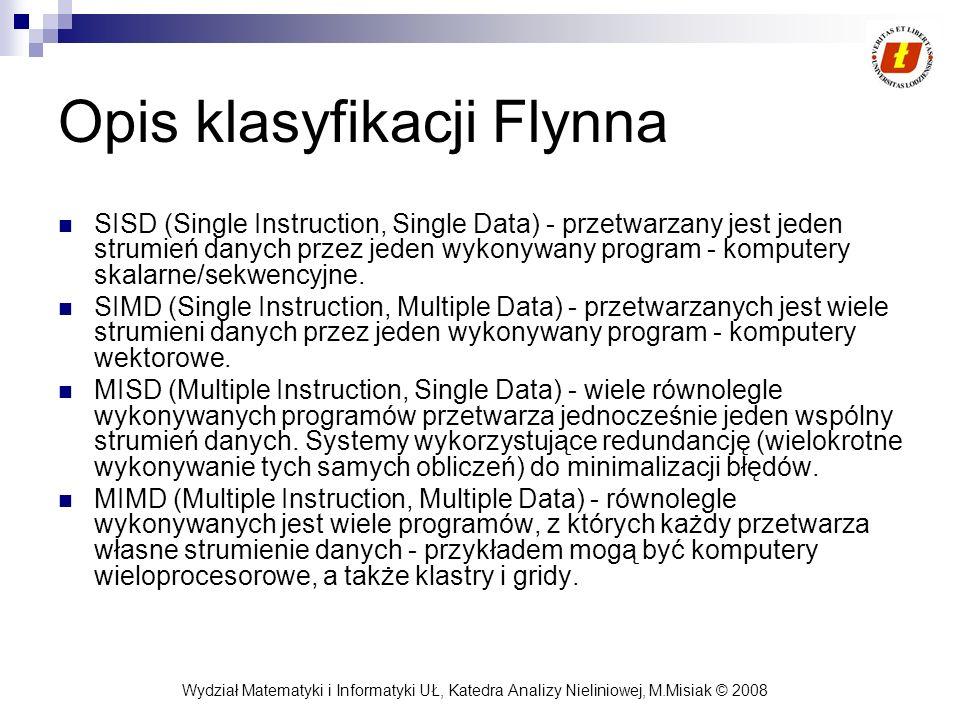 Opis klasyfikacji Flynna