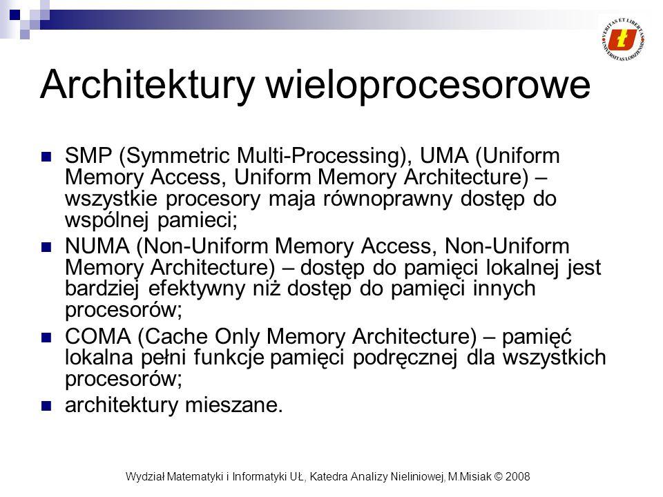 Architektury wieloprocesorowe