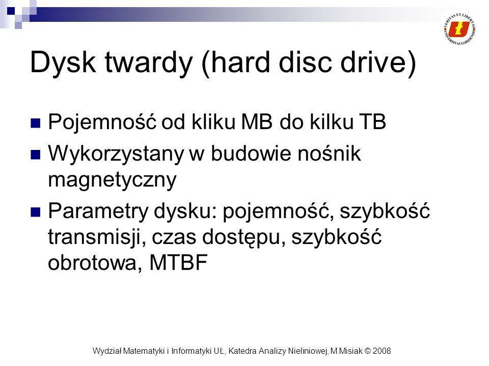 Dysk twardy (hard disc drive)