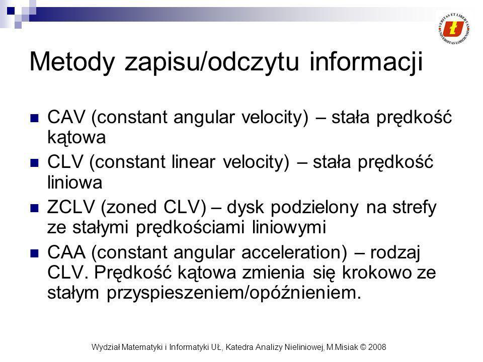 Metody zapisu/odczytu informacji