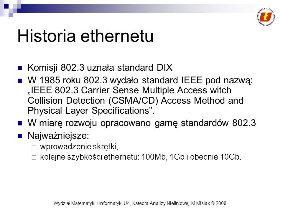 Historia ethernetu Komisji 802.3 uznała standard DIX