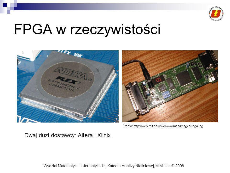 FPGA w rzeczywistości Dwaj duzi dostawcy: Altera i Xlinix.