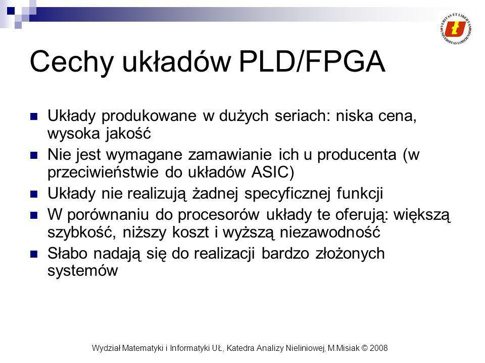 Cechy układów PLD/FPGA