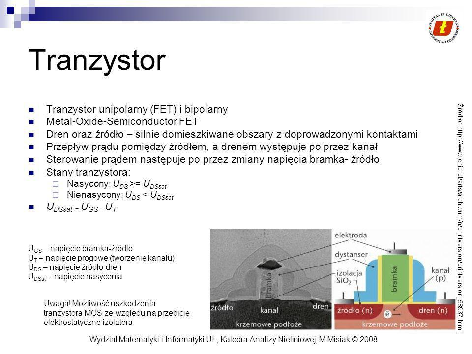 Tranzystor Tranzystor unipolarny (FET) i bipolarny
