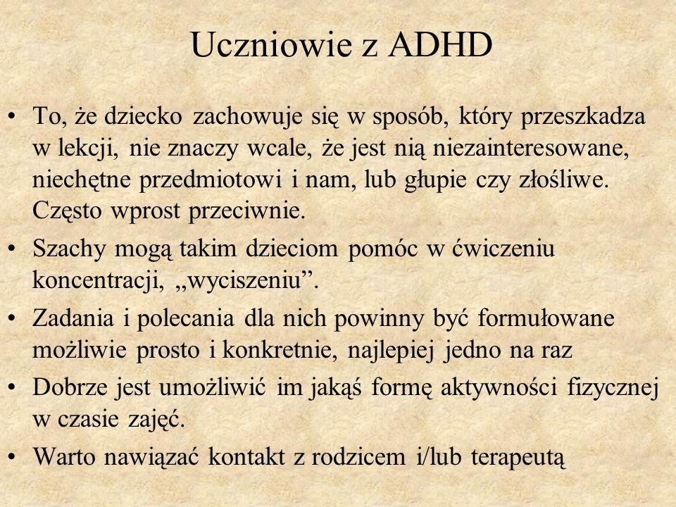 Uczniowie z ADHD