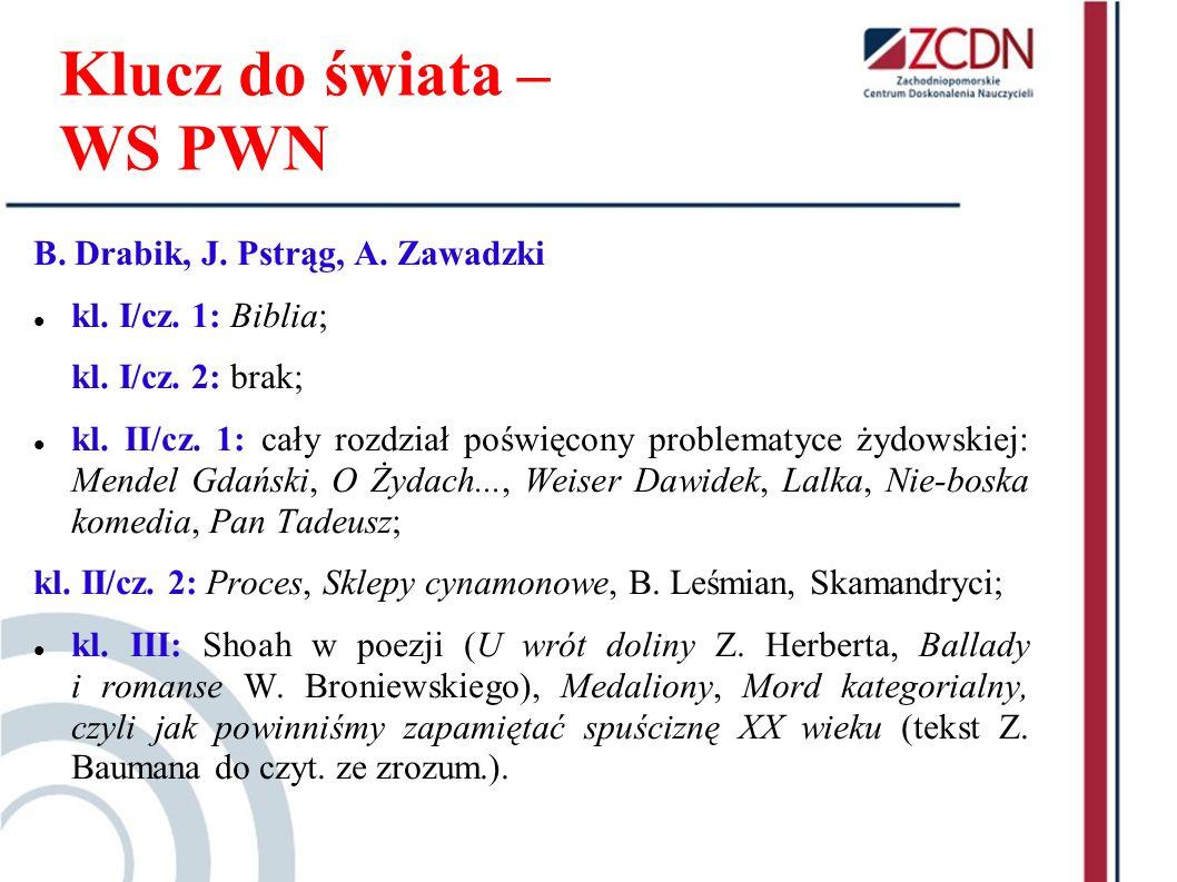 Klucz do świata – WS PWN B. Drabik, J. Pstrąg, A. Zawadzki