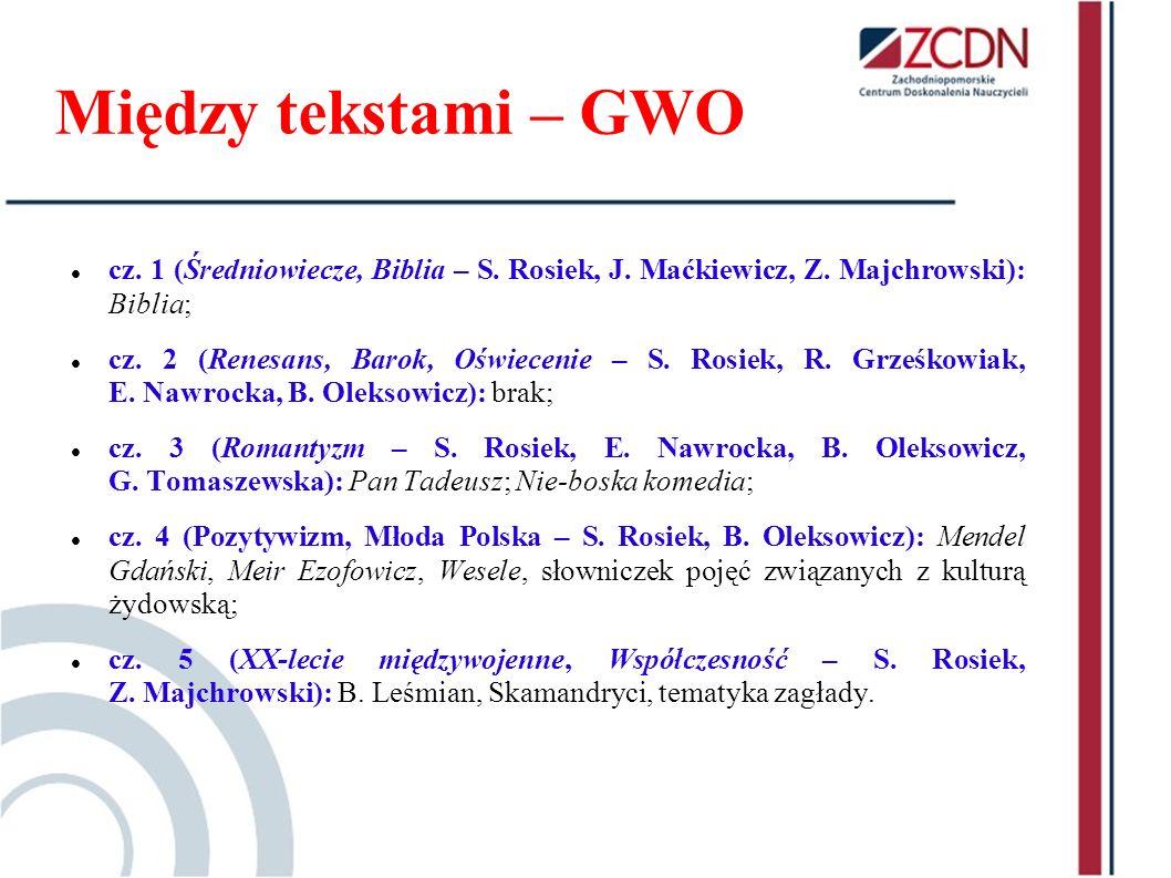 Między tekstami – GWO cz. 1 (Średniowiecze, Biblia – S. Rosiek, J. Maćkiewicz, Z. Majchrowski): Biblia;