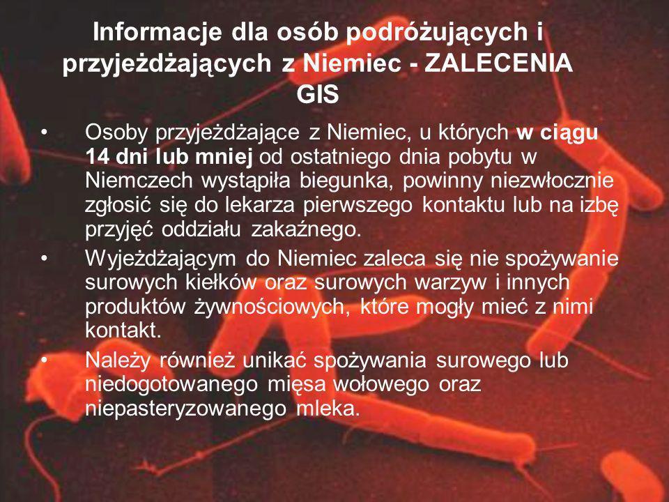 Informacje dla osób podróżujących i przyjeżdżających z Niemiec - ZALECENIA GIS